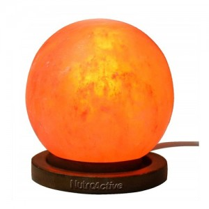 NutroActive Himalyan Rock Salt Globe Lamp 5-7 inch (Apprx 3kg) with Electric Cords and 4 Pigmy Bulbs.