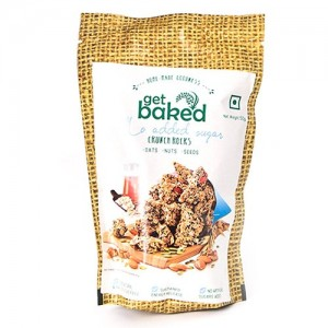 Get Baked - No Added Sugar Crunch Rocks Oat Granola Healthy Snack 50 gm