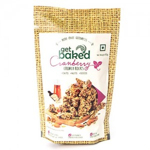 Get Baked - Cranberry Crunch Rocks Oat Granola Healthy Snack 50 gm