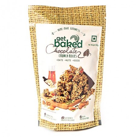 Get Baked - Chocolate Crunch Rocks Oat Granola Healthy Snack 50 gm
