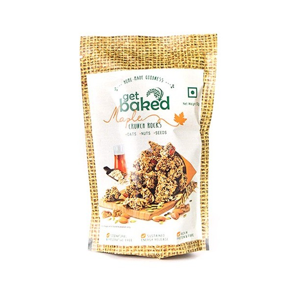 Get Baked - Maple Crunch Rocks Oat Granola Healthy Snack 50 gm