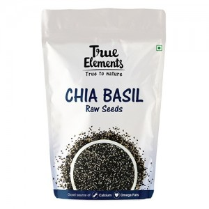True Elements Raw Chia Basil Seeds 150gm