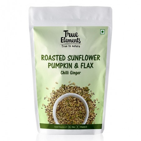 True Elements Harippa Roasted Sunflower Flax & Pumpkin Blend Chilli Ginger 100 g