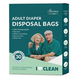 Sirona Premium Adult Diaper Disposal Bags - 30 Bags