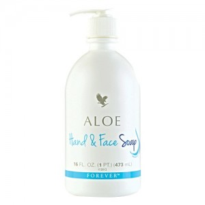 Forever aloe hand and face soap