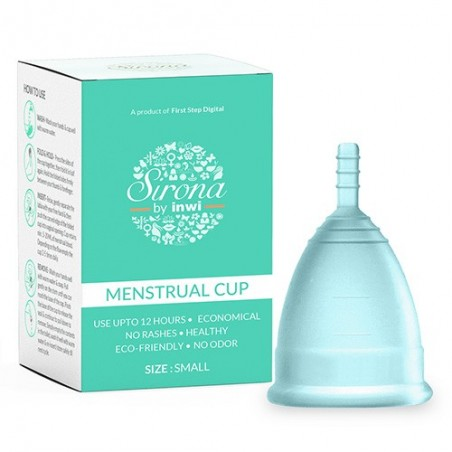 Sirona FDA Approved Reusable Menstrual Cup with Medical Grade Silicone - Small
