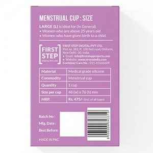 Sirona FDA Approved Reusable Menstrual Cup with Medical Grade Silicone - Large back