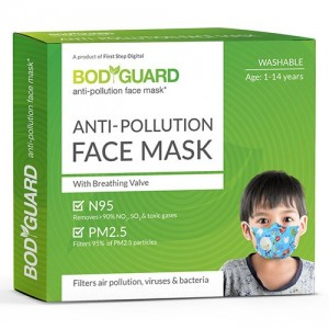 BodyGuard Anti Pollution Face Mask - 1 Pcs (Washable)