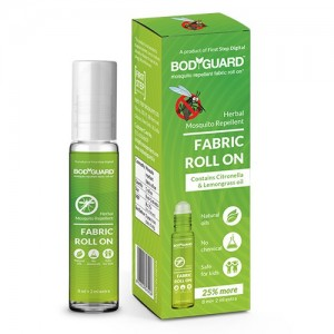 BodyGuard Herbal Fabric Roll On with Citronella and Lemongrass Oil - 8 ml + 2 ml Extra