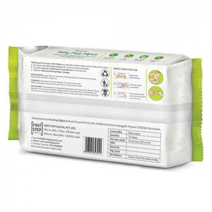BodyGuard Premium Paraben Free Baby Wet Wipes with Aloe Vera - 72 Wipes (1 Pack, 72 each) back