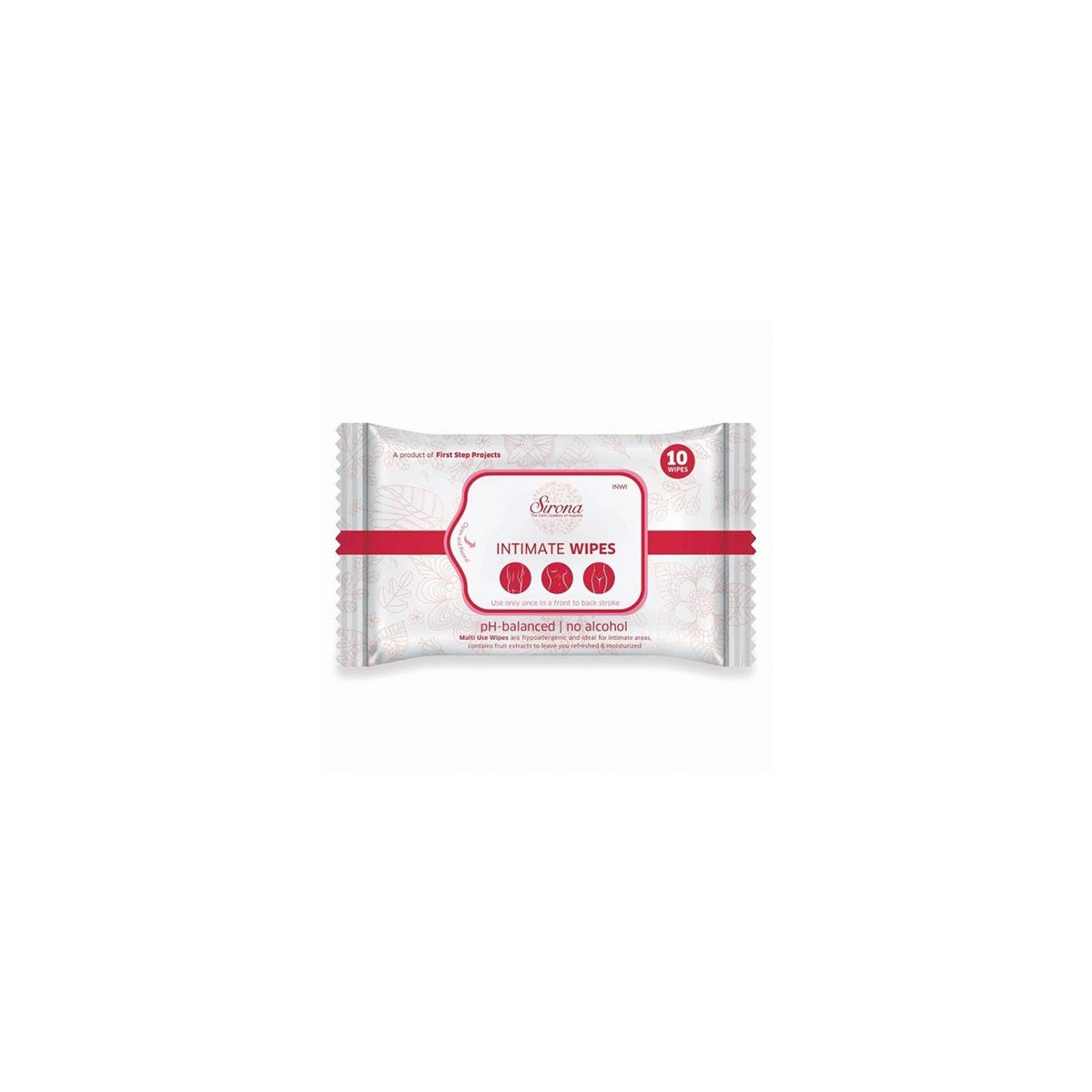 Intimate Wet Wipes by SIRONA - 10 Wipes (1 Pack - 10 Wipes Each)