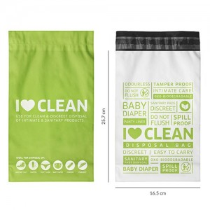 Sanitary & Diapers Disposal Bag by SIRONA - 30 Bags (2 Pack - 15 Bags Each) product