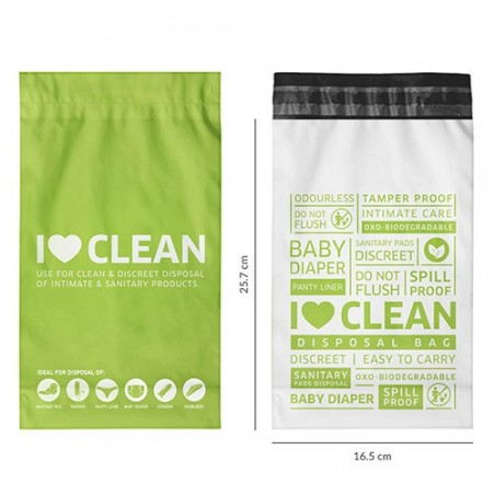 Sanitary and Diapers Disposal Bag by SIRONA - 15 Bags product