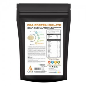 AS-IT-IS Nutrition Pea Protein Isolate Powder 500 grams back
