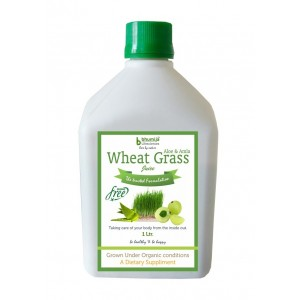 Bhumija Lifesciences Plain Wheat Grass Juice (Sugar Free) 1 Ltr