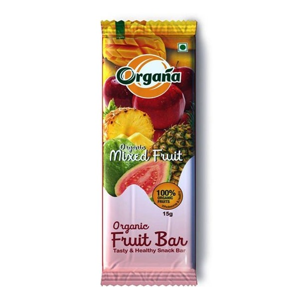 Organa Organic Mixed Fruit Fruitbar - 15g