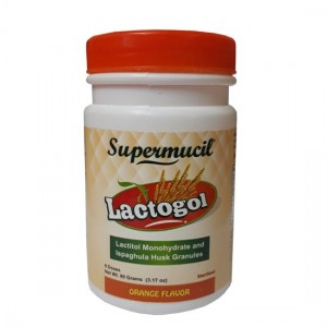 SUPERMUCIL LactoGol: Lactitol Monohydrate with Ispaghula : 270 Gms (Combo Pack) (3X90 Gms)