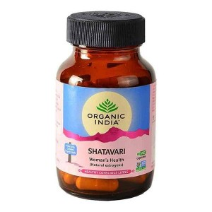 Organic India Shatavari 60 Capsules Bottle