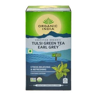 Organic India Tulsi Green Earl Grey Tea 25 Tb