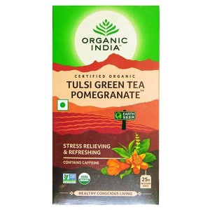 Organic India Tulsi Green Tea - Pomegranate 25 Tb