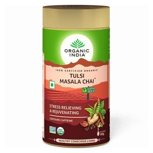 Organic India Tulsi Masala Chai 100 Gm Tin