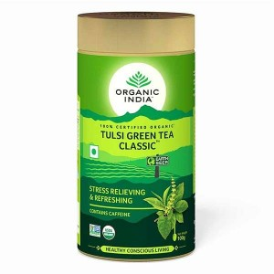 Organic India Tulsi Green Tea classic 100 Gm Tin