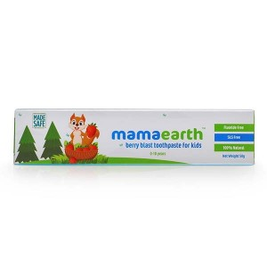 Mamaearth 100 Percent Natural Berry Blast Kids Toothpaste, 50g