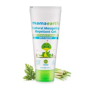 Mamaearth Natural Mosquito Repellent Gel 50ml. DEET Free. Protects from Dengue, Malaria & Chikungunya.