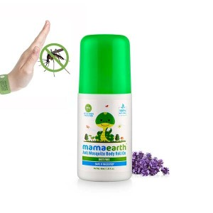 Mamaearth Natural Anti Mosquito Body Roll On 40ml. DEET Free. Protects from Dengue, Malaria & Chikungunya.