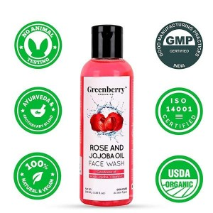 Greenberry Organics Rose & Jojoba Oil Face Wash