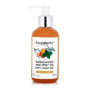 Greenberry Organics Sandalwood & Mint Oil Body Wash Gel