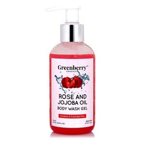 Greenberry Organics Rose & Jojoba Oil Body Wash Gel