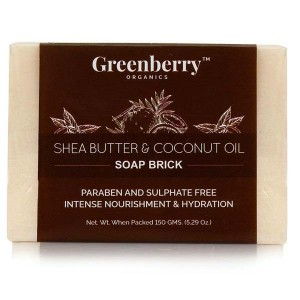 Greenberry Organics Shea Butter & Coconut Oil Soap Brick