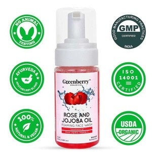 Greenberry Organics Rose & Jojoba Oil Foaming Face Wash