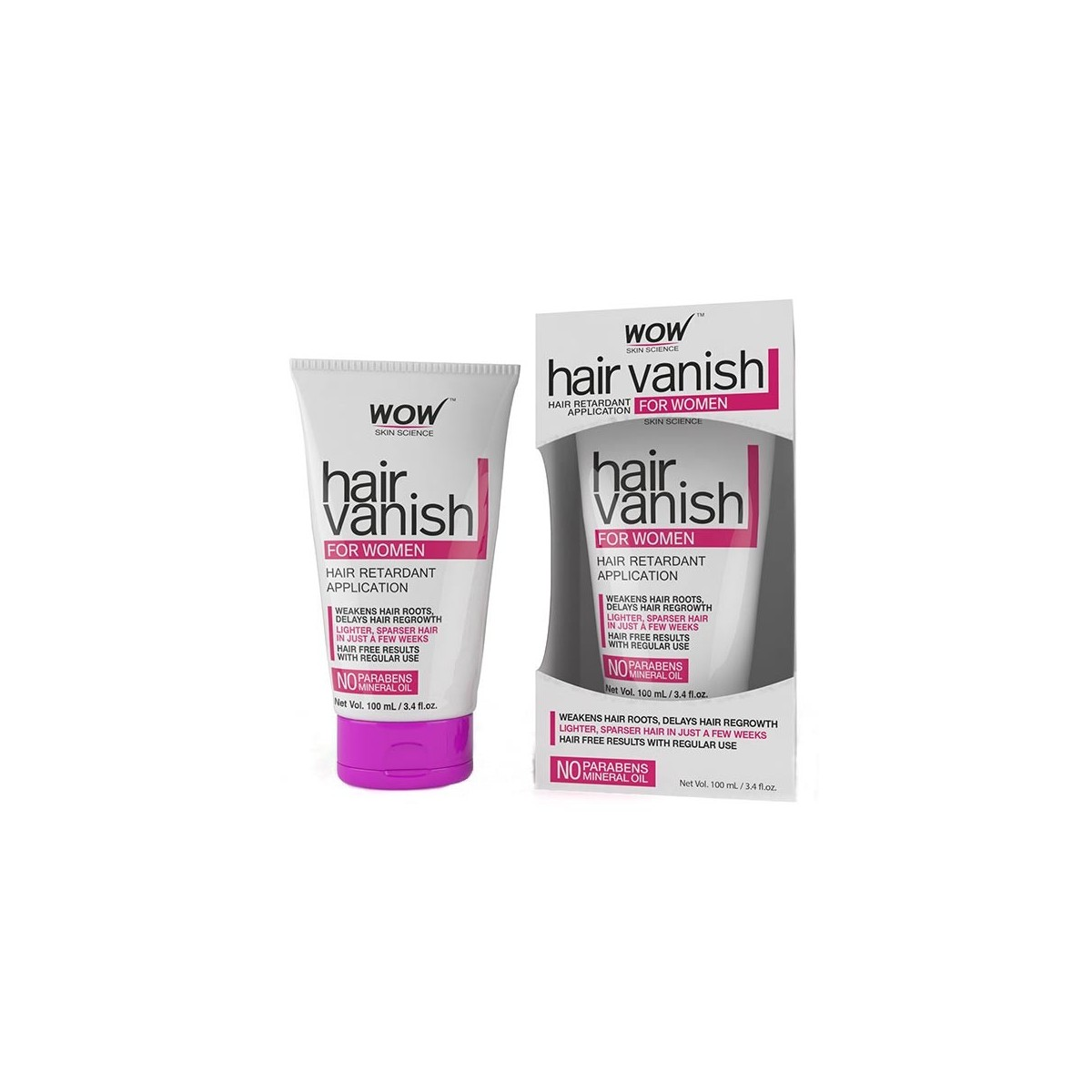 Wow Hair Vanish For Women - 100 Ml