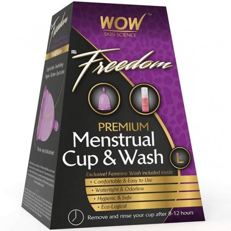 Wow F&G Freedom Reusable Menstrual Cup & Wash - Large (Post Childbirth)