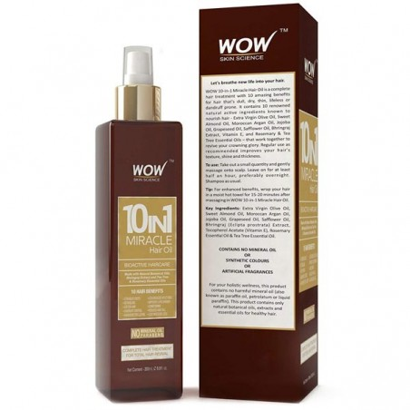 Wow 10-In-1 Active Miracle Hair Oil - 200 Ml