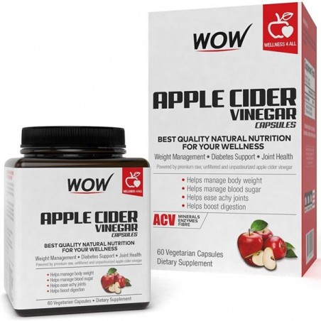 Wow Apple Cider Vinegar Capsules, 60 Capsules