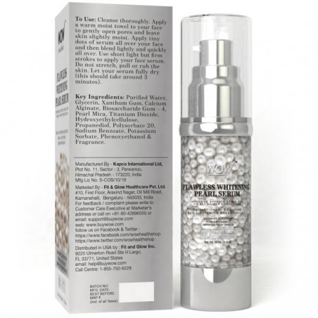 Wow Skin Science Flawless Whitening Fairness Pearl Serum, 30Ml