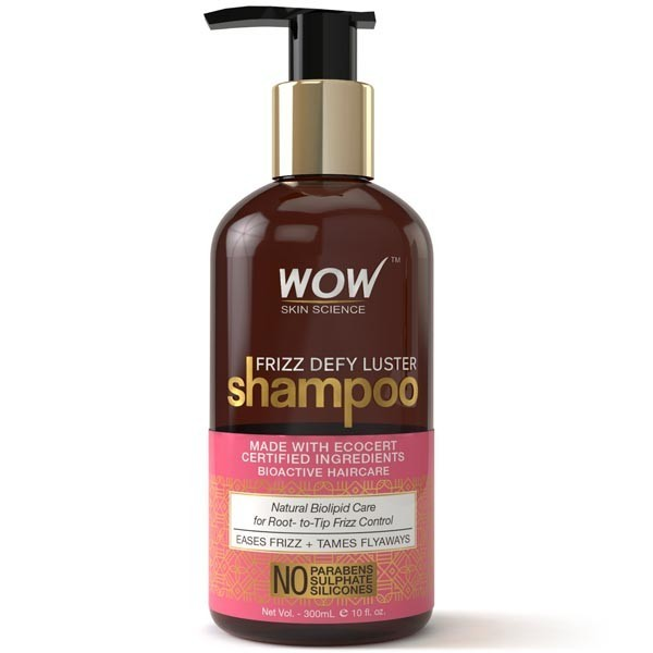 Wow Frizz Defy Luster Shampoo - No Parabens, Sulphates & Silicones