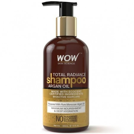 Wow Total Radiance Shampoo - Infused With Argan Oil