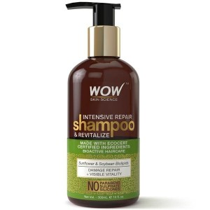 Wow Intensive Repair Shampoo And Revitalize - No Parabens, Sulphates & Silicones