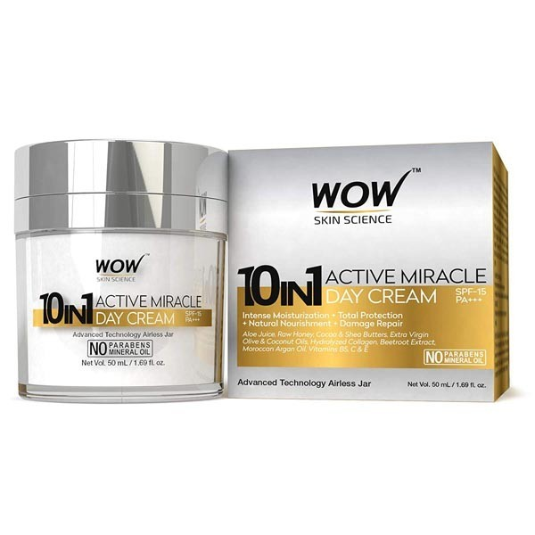 Wow 10 In 1 Active Miracle Face Cream - Spf 15 Pa++ - 50Ml