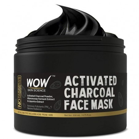 Wow Activated charcoal face mask 200Ml