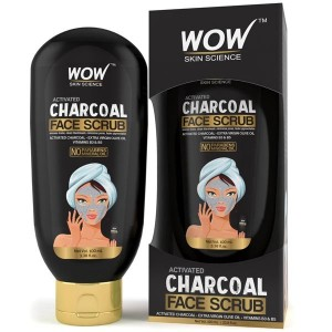 Wow Activated Charcoal Face Scrub 100Ml