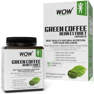 Wow Green Coffee Bean Extract Capsules, 60 Capsules