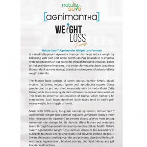 Nature Sure™ Agnimantha Weight Loss Formula for Men and Women