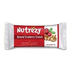 Nutrezy Almond cranberry Bar (Pack of 6)