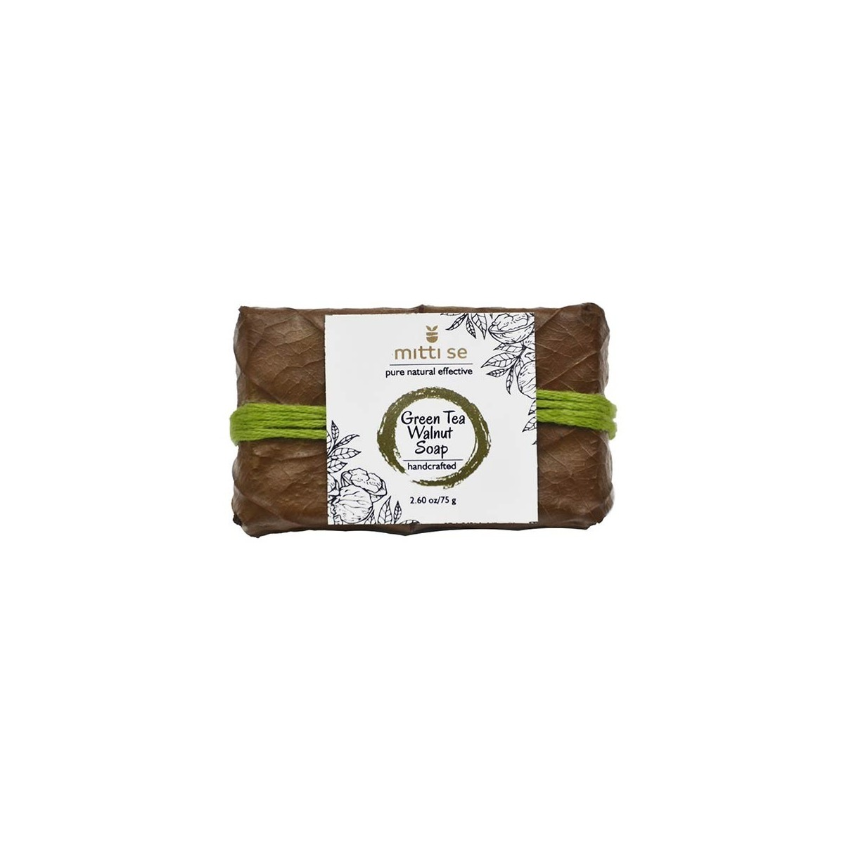 Mitti Se Green Tea & Walnut Soap