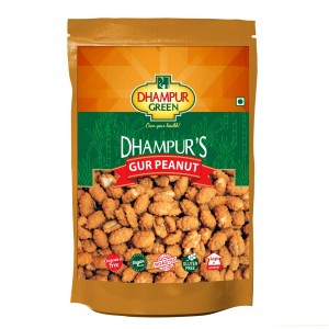 Dhampur Green Peanut Nibbles (Gur Caoted Peanuts),150g